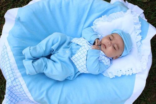 Saída Maternidade Menino Pequeninos 5 Peças Cor 6