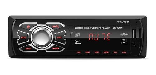 Som Automotivo First Option 6630bcn Com Usb, Bluetooth E Leitor De Cartão Sd