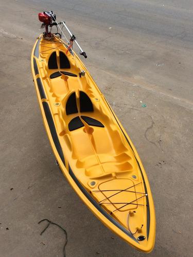 Caiaque Duplo K2 Pro Pesca Fibra  2 Lugares + Remos + Colete