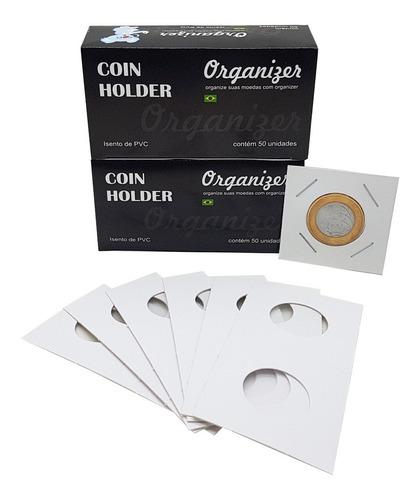 Coin Holder 100 Unidades (2 Caixas De 50un) Várias Medidas