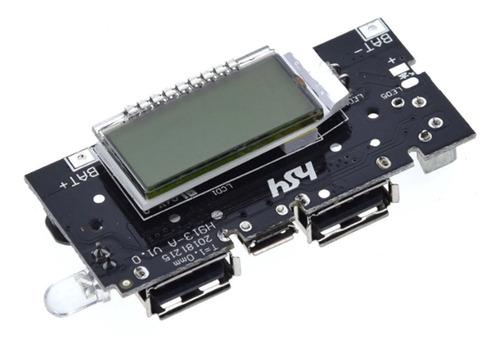 Modulo Cargador Lcd  Baterías Lipo  Power Bank Dos 2 Salidas