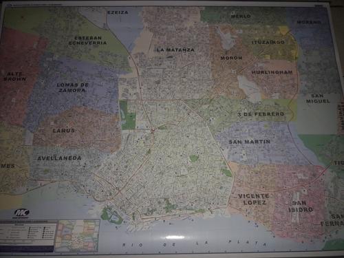 Mapa Mural Gba Y  Caba + Un Marcador Borrable De Regalo
