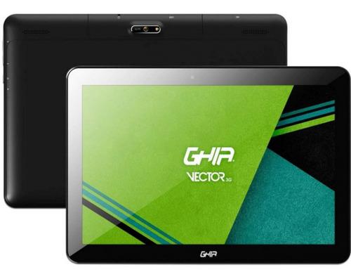 "Tablet Ghia GTVR103G de 10"" Pulgadas con Conexión Celular 3G, Dual SIM, 16GB color Negro con 2GB de memoria RAM + Regalo"