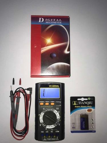 Tester Multimetro Digital Vc9205 Al  !!!! O F E R T A !!!!