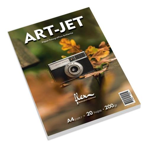 Resma A4 Foto Glossy Brillante 100h 200g Fotografico Art-jet