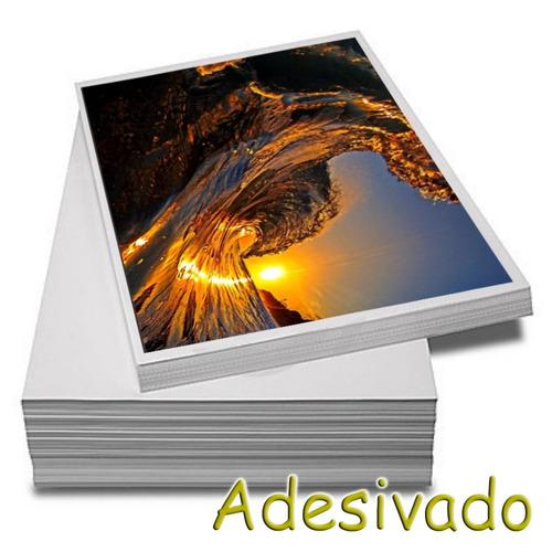 Papel Fotográfico Adesivo A4 Glossy 115g  100 Folhas Premium