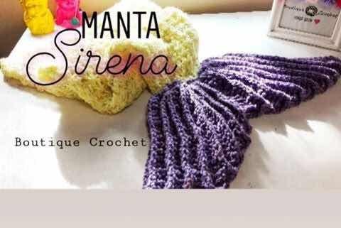 Manta Cola De Sirena Tejida A Crochet
