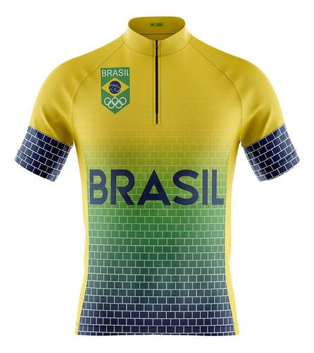Camisa Ciclismo Mountain Bike Seleção Brasil Modelo 232