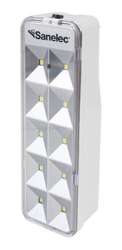 Lámpara De Emergencia Sanelec 2128 Led Con Batería Recargable 127v Blanca