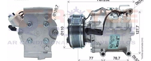 Compressor Ar Condicionado Chrysler Stratus Polia 6pk