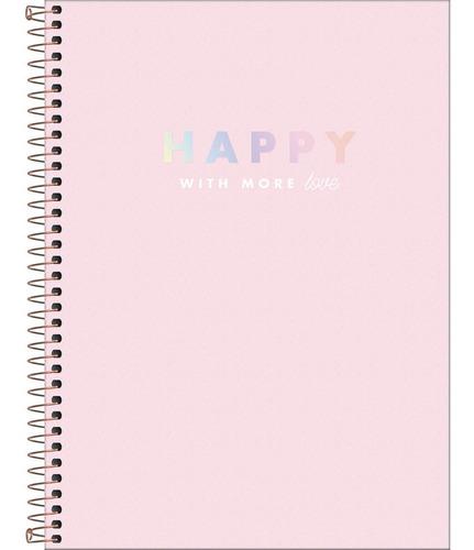 Caderno Universitário 1 Matéria Happy Tilibra Cor Variada