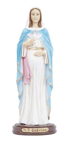 Imagem Nossa Senhora Grávida Em Resina 31 Cm