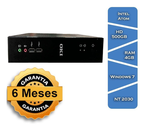 Desktop Oki Brasil Nt 2030 Atom D2550 Hd 500 4gb Win7 Mini
