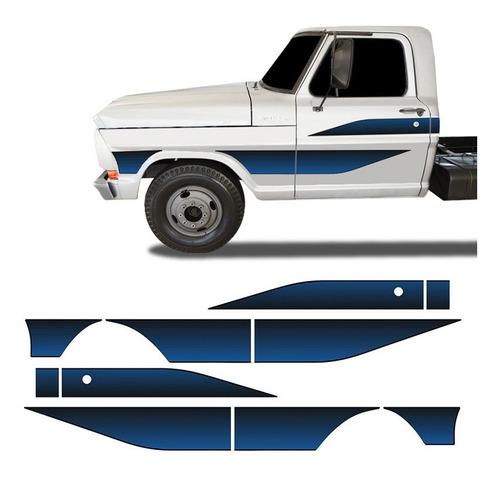 Faixa Ford F 4000 1989 1990 1991 1992 Adesivo Lateral Portas