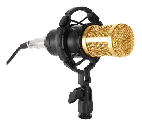 Micrófono Andowl Bm-800 Condensador Unidireccional Negro/dorado