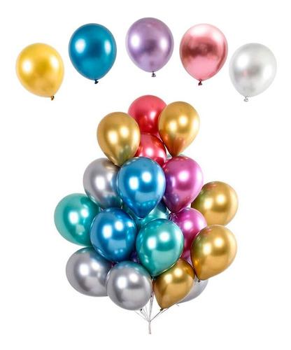 Balão Bexiga Metalizado - Várias Cores - N°5 - 25 Unidades
