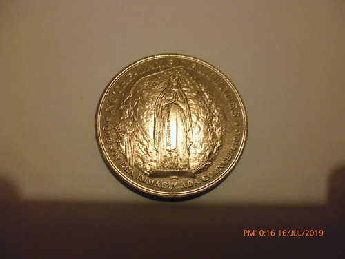Francia Moneda Gruta De La Virgen De Lourdes Año 1999