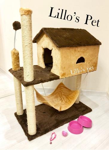 Arranhador Gato Casa Com Rede + Kit  Promoção