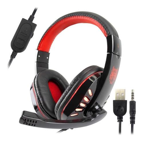 Fone Headset Gamer Microfone Jogos P2 Usb Ps4 Pc C/ Led