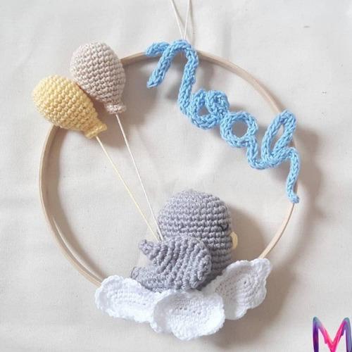Enfeite Porta Maternidade Amigurumi