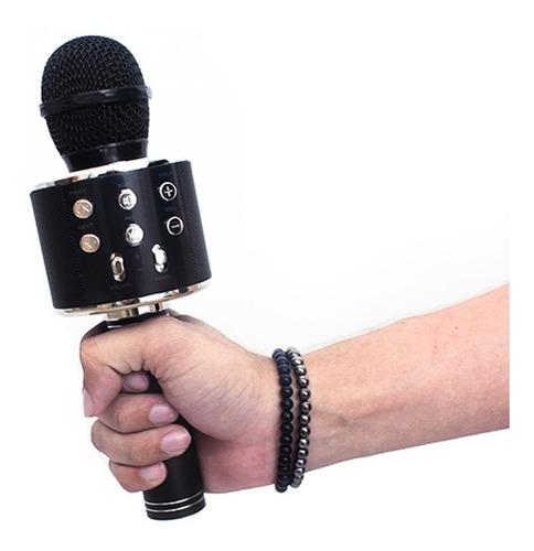 Microfone De Karaoke Bluetooth Com Jack Recarregável De 3,5