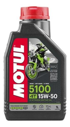 Óleo Motul 5100 15w50 4t Semi Sintético Ninja 300 Moto 1 Lt