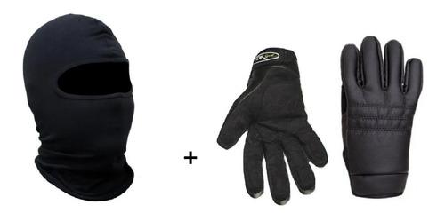 Kit Toca Ninja Balaclava Luva Motoqueiro Para Frio