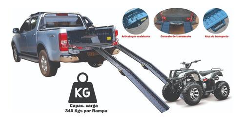 02 Rampas Embarque Moto E Quadriciclo Mod: 2000/165 Ac