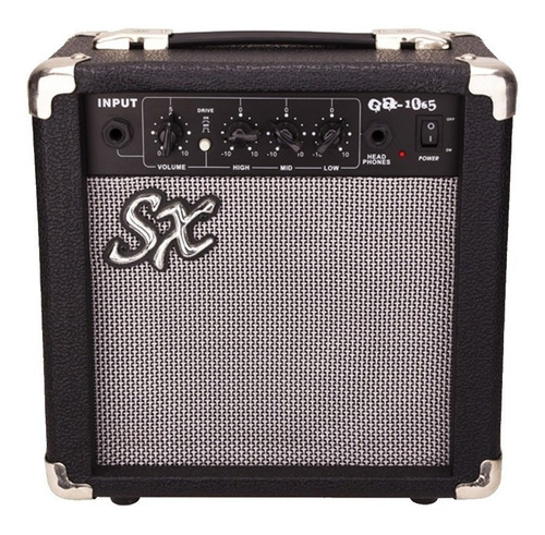 Amplificador Sx Ga1065 Combo 10w Negro Y Plata 220v