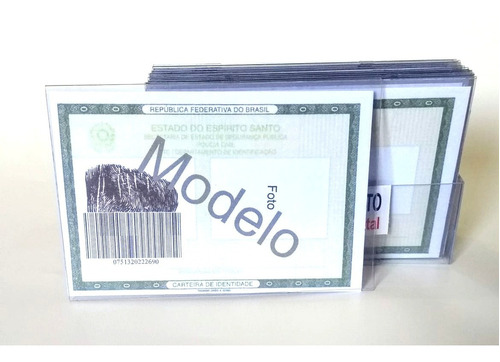 20 Protetores Rg Acrílico 0, 5mm expositor Carteira Identida