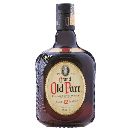 Uísque Blended Grand Old Parr 12 Reino Unido Garrafa 1 L