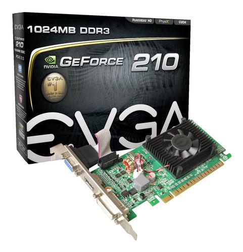 Placa De Vídeo Nvidia Evga  Geforce 200 Series 210 01g-p3-1313-kr 1gb