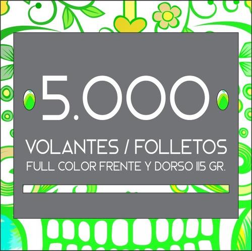 5.000 Folletos / Volantes Full Color Frente Y Dorso. 115 Gr