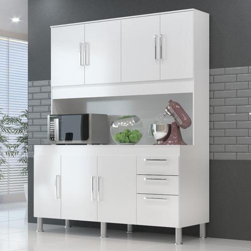 Cozinha Compacta Gemeos 1,5m 7 Portas 3 Gav.
