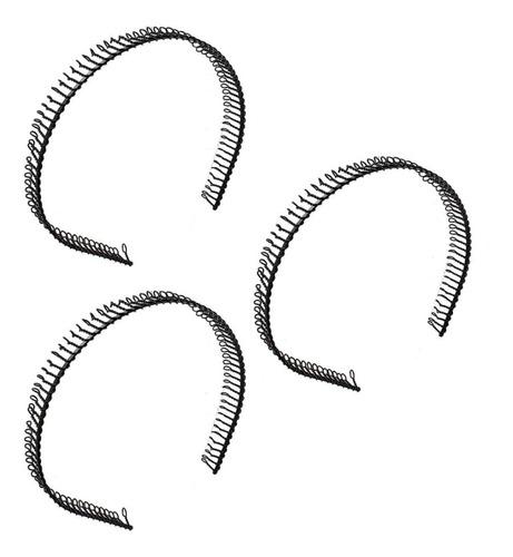 3 Tiaras De Ferro Arco Diadema Masculina Metal Arquinho