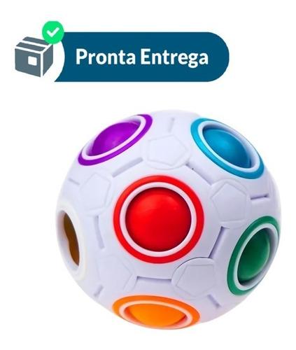 Cubo Mágico Puzzle Rainbow Ball Anti Estress Fidget Nobrasil