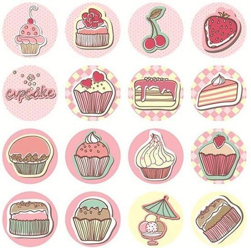96 Stickers De Pastelería