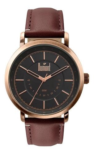 Relógio Feminino Couro Dumont Original Analógico Barato