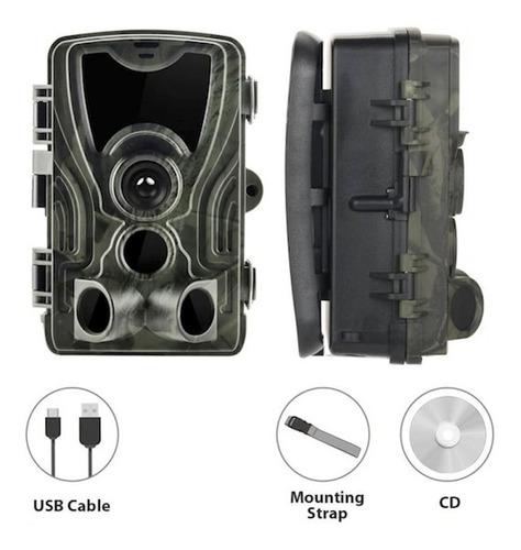 Câmera Trilha Caça Camping Infravermelho 1080p 16mp Hc 801a