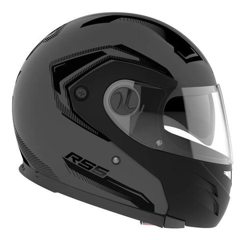 Casco Para Moto Modular Hawk Rs5 Vector Gris Talle Xl