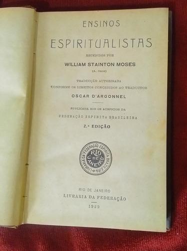 Ensinos Espiritualistas Oxon W Stainton Moses Espiritismo Original