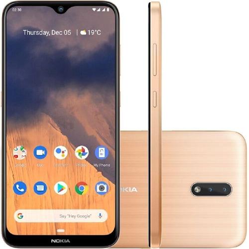 Celular Nokia 2.3 Nk004 4g 32gb 2gb Ram Tela Hd+ 6.2 Dourado