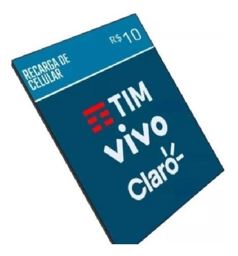 Recarga Celular Crédito Online Tim Claro Vivo  R$ 10,00
