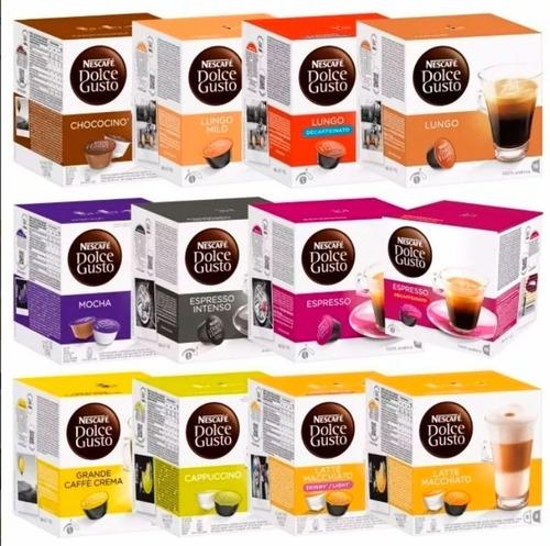Nescafe Dolce Gusto 3 Cajas 16 Unidades Todos Los Sabores