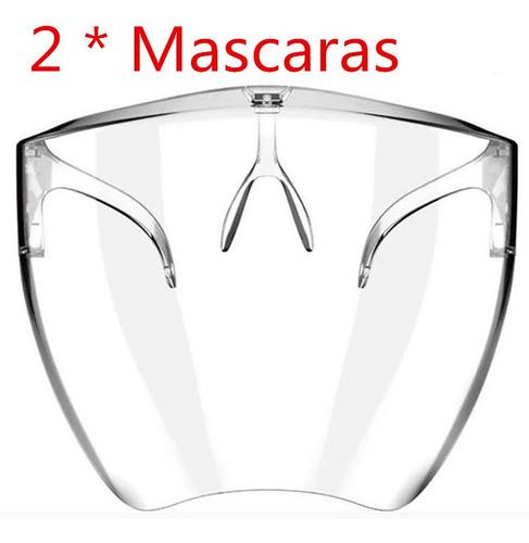 Kit 2 Protetor Facial Acrilico Transparente Proteção P/rosto
