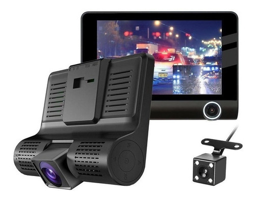 Câmera Automotiva Interna Frontal Ré Dashcam Carro Lcd 1080p