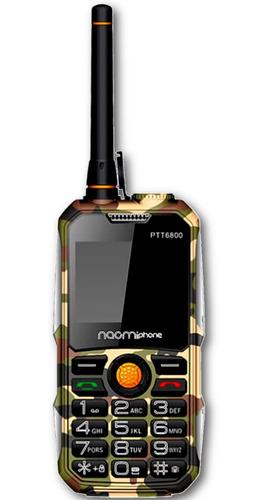 Celular Uso Rudo Naomiphone PTT6800 2g Radio, Gran Linterna, Powerbank 6600mah - Ecart