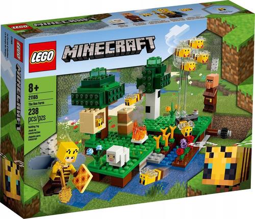 Lego Minecraft A Fazenda Das Abelhas 238 Peças - Lego 21165
