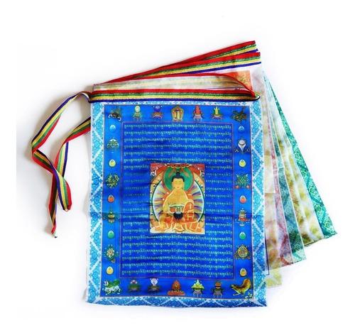 Varal Cordão Bandeiras Orações Budista Tibetano 3m