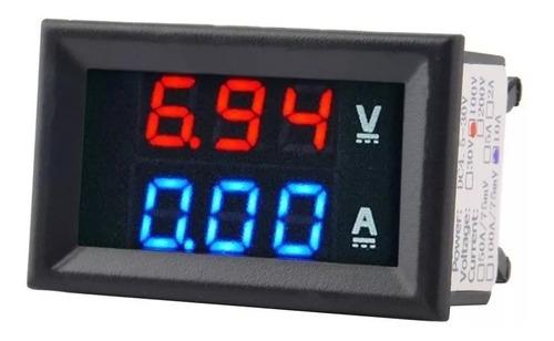 Amperimetro Digital Y Voltimetro Led Azul Con Rojo